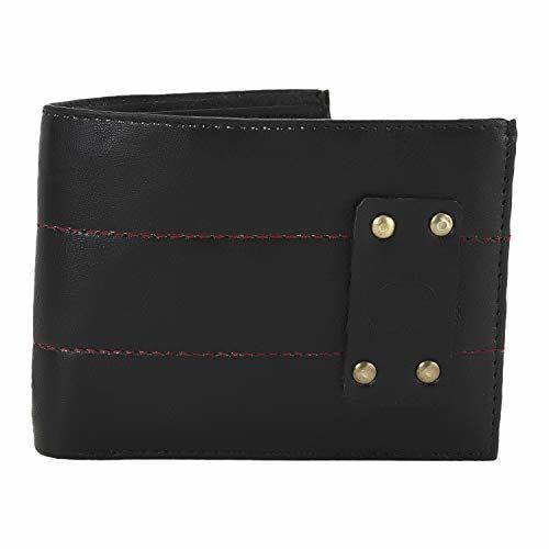 Watch Me X Greywood Men's Black Leather Wallet & Free Day Date Analog Watch Combo Gift Set WMGW-011-DDWM-017p2