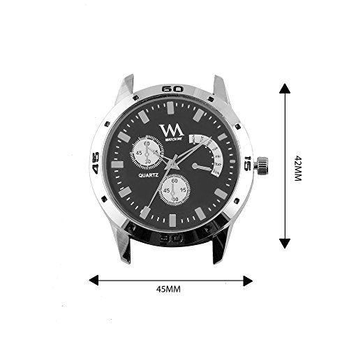 Watch Me Analogue Black Dial Men's Watch(Awc-010Dz)