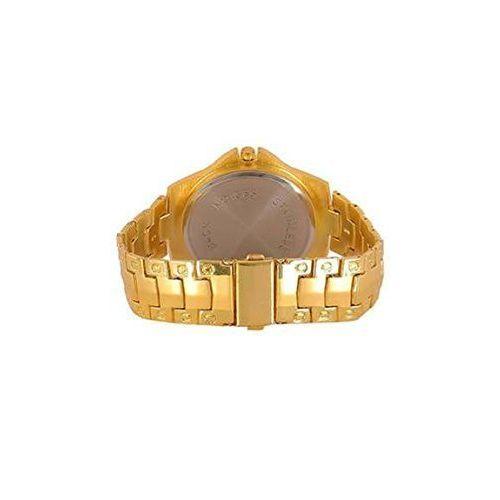 Generic The Shopoholic Analogue Gold Dial Metal Belt Men's Watch