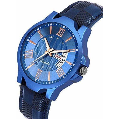 Generic Blue Dial Day Date Working Men's Watch