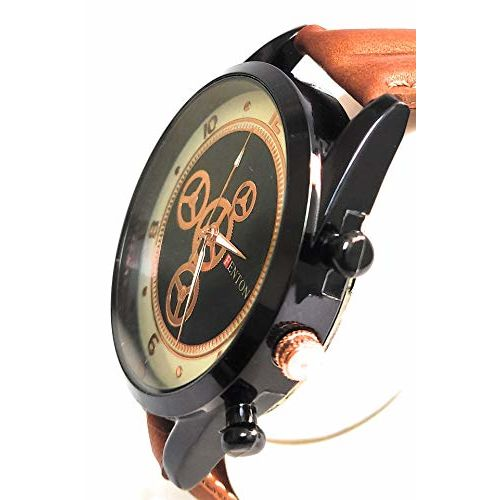Generic Analogue Leather Belt Casual Cum Formal Black Dial Gents Wrist Watch for Men and Boys_f328