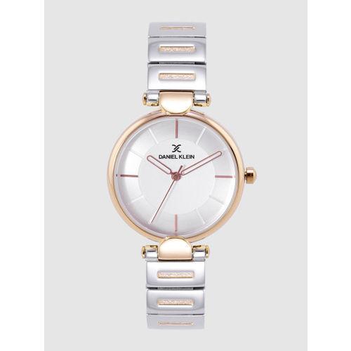 Daniel Klein Premium Women Silver-Toned Analogue Watch DK12190-4