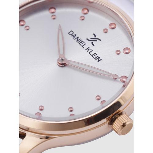 Daniel Klein Trendy Women Silver-Toned Analogue Watch DK12188-5