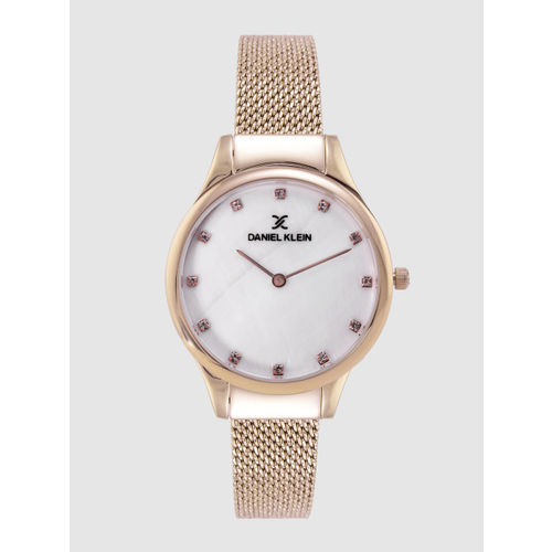 Daniel Klein Fiord Women White Analogue Watch DK12204-2