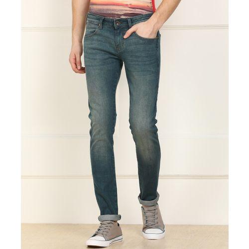 Wrangler Skinny Men Blue Jeans