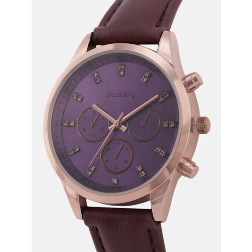 DressBerry Women Purple Analogue Watch MFB-PN-SNT-G09