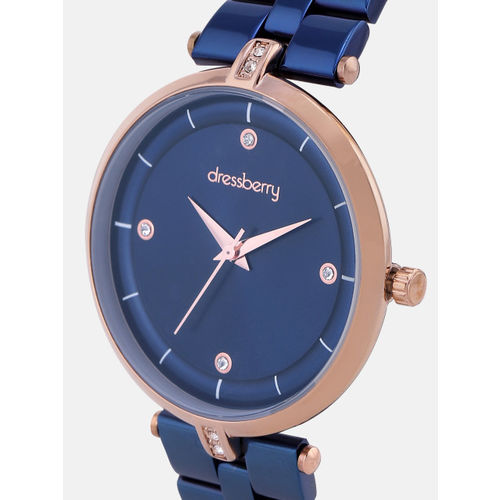 DressBerry Women Navy Blue Analogue Watch
