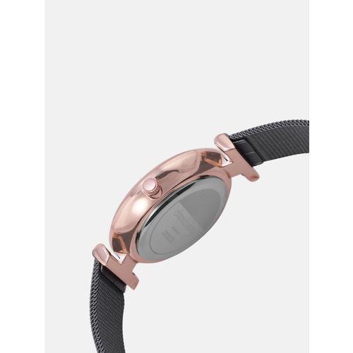 DressBerry Women Gunmetal-Toned Analogue Watch MFB-PN-PFDK2544