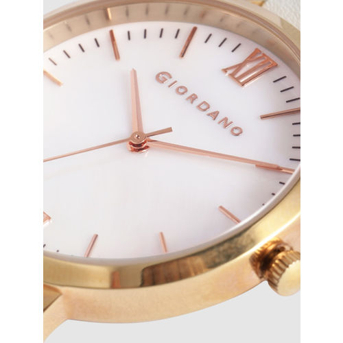 GIORDANO Women White Analogue Watch 2878-05