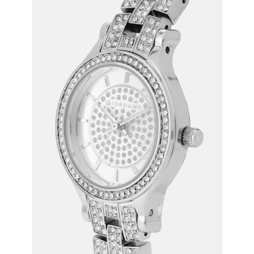 GIORDANO Women Silver-Toned Analogue Watch A2090-11