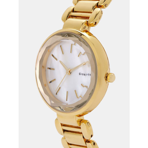 GIORDANO Women Off-White & Gold-Toned Analogue Watch F2116-22