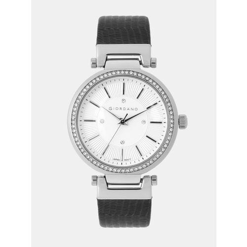 GIORDANO Women Silver-Toned Analogue Watch 2968-01