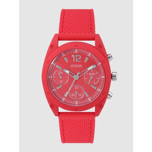 GUESS Women Red Analogue Watch W1296L3