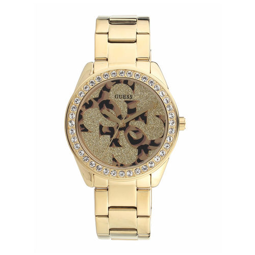 GUESS Women Gold-Toned Analogue Watch W1201L2