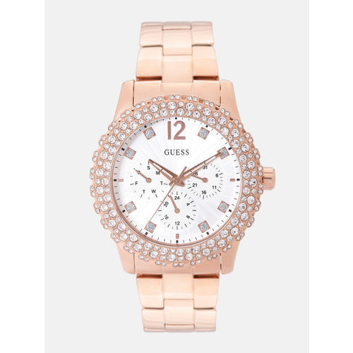 GUESS Women Silver-Toned Analogue Watch W0335L3_OR