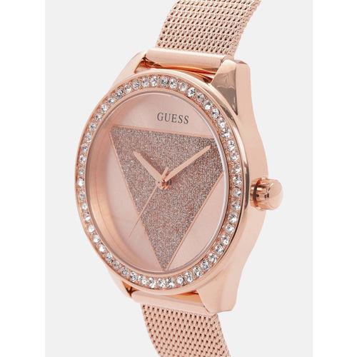 GUESS Women Rose Gold Analogue Watch W1142L4