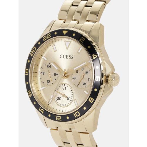 GUESS Women Gold-Toned Swiss Made Analogue Watch W1187L1