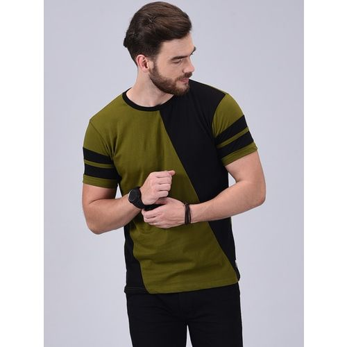 Wrath Multi Colour Cotton Colour Block Short Sleeve T-Shirts