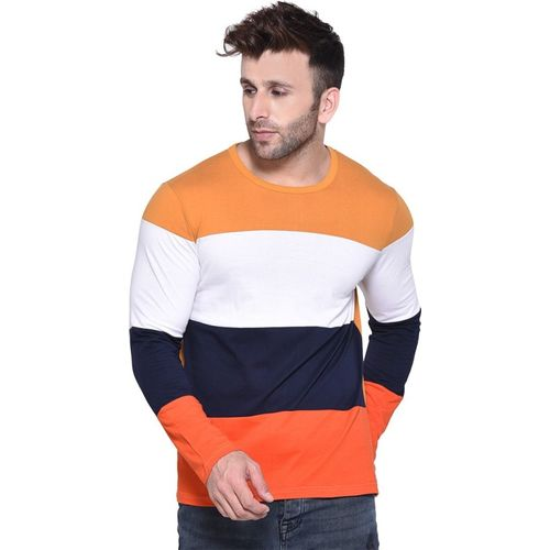 Rockhard Color Block Men Round Neck Multicolor T-Shirt