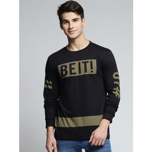 DIFFERENCE OF OPINION Printed Men Round Neck Black T-Shirt