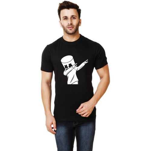 Elepants Printed Men Round Neck Black T-Shirt