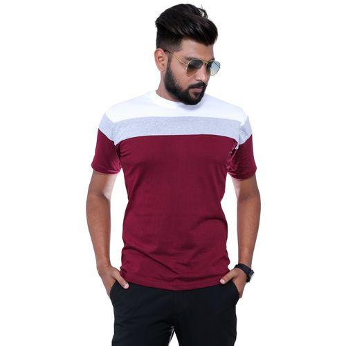 Reya Color Block Men Round Neck Multicolor T-Shirt
