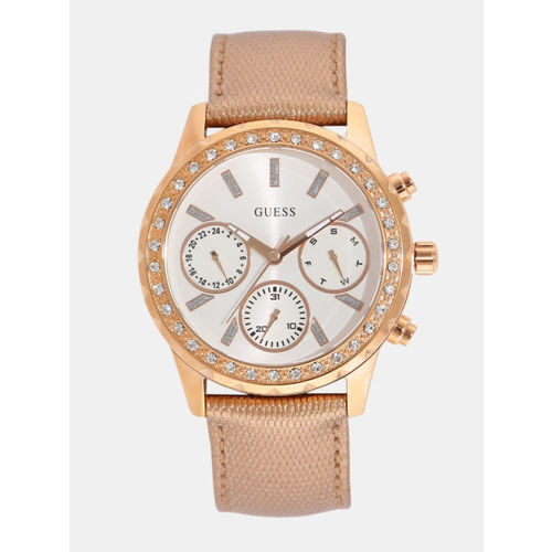 GUESS Women Off-White Multifunction Watch W0903L3