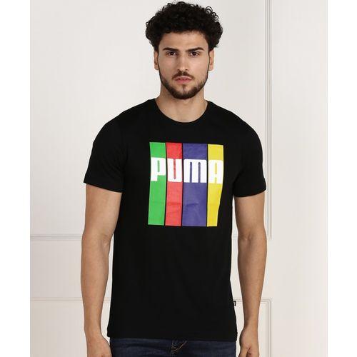Puma Graphic Print Men Round Neck Multicolor T-Shirt