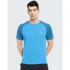 Wildcraft Color Block Men Round Neck Blue T-Shirt
