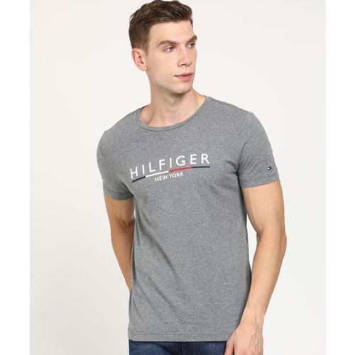 Tommy Hilfiger Printed Men Round Neck Grey T-Shirt