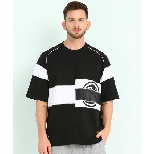 Puma Printed Men Round Neck Black, White T-Shirt