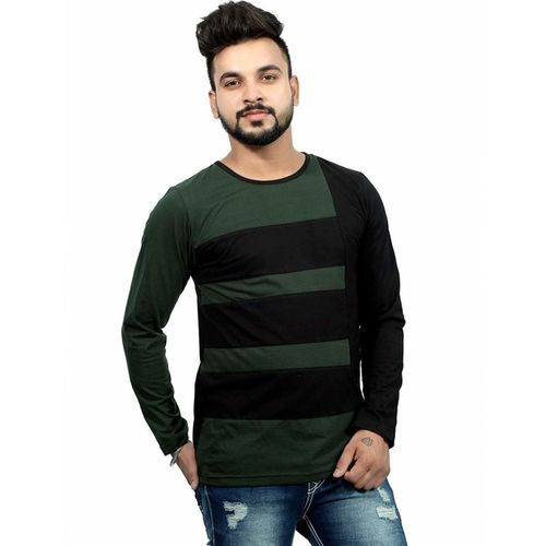 EG Color Block Men Round Neck Multicolor T-Shirt