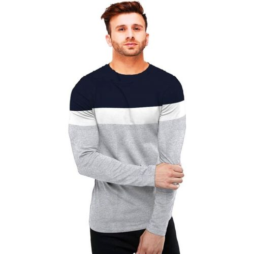 Azy Fabrics Solid Men Round Neck Multicolor T-Shirt