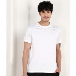 REEBOK Solid Men Round Neck White T-Shirt