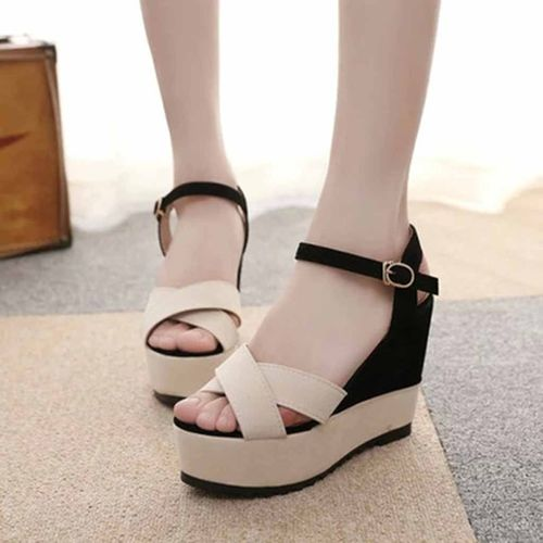 Mazefeng 2019 New Women Wedges Sandals Summer Mixed Colors Platform Sandals Women Casual Shoes High Heel Sandalias Mujer
