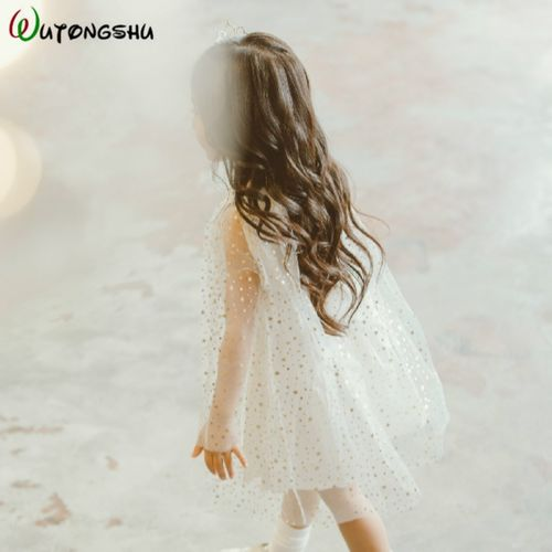 Wutongshu Birthday Party Dress For Girls Christmas Princess Dress Toddler Dress Long Sleeves Winter New Year Costumes For Kids