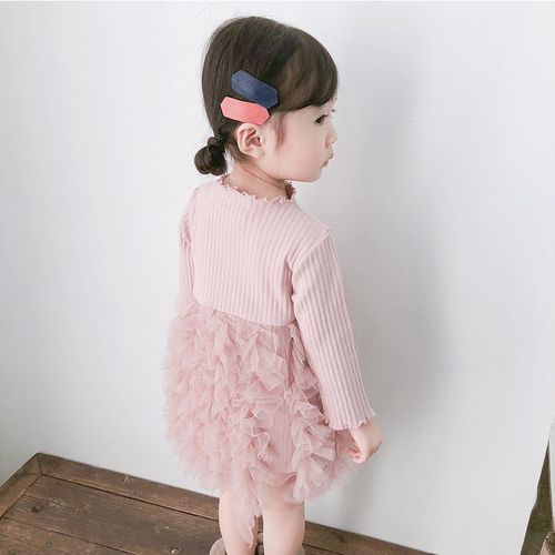 KEAIYOUHUO New Baby Knitting Dress For Baby Girls Casual Long Sleeve Tutu Princess Dress Infant Party Dress Autumn Newborn Clothes 0-2 Year