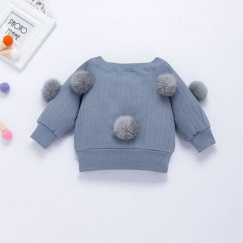 pudcoco 1-6T 2PCS Toddler Kid Baby Girl Clothes Set Winter Knitted Sweater cardigan With Hairball Shirt + MIni Skirt Dress Outfits Set