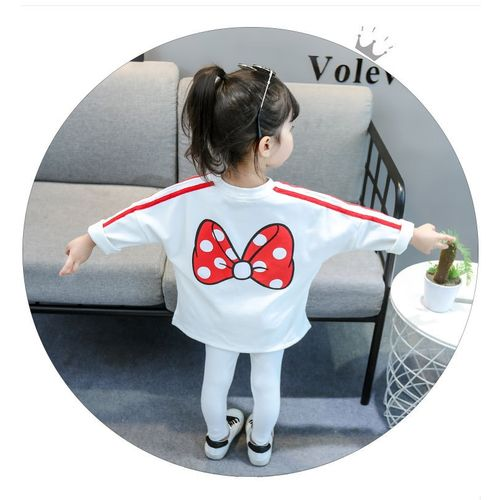 NoEnName_Null Minnie Children Clothing Outfit Costume For Kids Sport Suit spring Autumn Toddler Girls Clothes Tracksuit Girls Clothing Sets