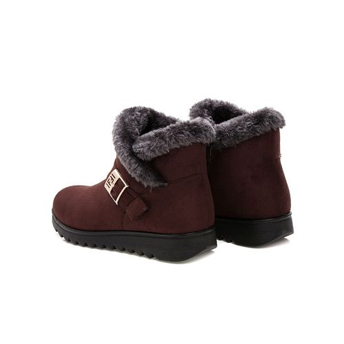 NoEnName_Null Women Snow Boots Warm Plush Soft Bottom Winter Shoes Woman Ankle Boot Plus Size Platform Female Botas Mujer Drop Shipping SH1101