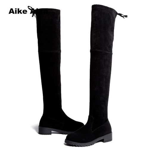 AIKE Asia Size 35-41 Winter Over The Knee Boots Women Stretch Fabric Thigh High Sexy Woman Shoes Long Bota Feminina zapatos de mujer #66