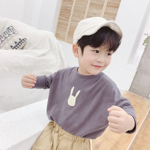 Boys Tops Tshirts kids autumn spring Clothes children t-shirts for baby girls long sleeve t shirts toddlers 80~120 rabbit ear