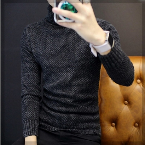 Zogaa Men Winter Thicken Warm Cashmere Sweaters Autumn Men Turtleneck Knitted Brand Casual Sweaters Slim Fit Pullover Knitwear
