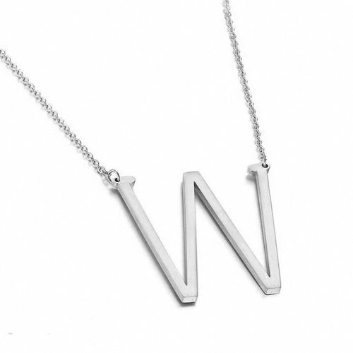 E.B.belle New Minimalist Gold Rose Gold Silver Color 26 A-Z Letter Name Initial Necklaces For Women Long Big Letter Pendant Necklace