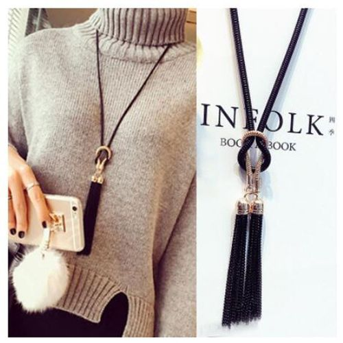 zhenshecai 2018 New Arrival Female Pendant Necklace Tassel Long Winter Sweater Chain Necklace Women Necklaces Wholesale Sales