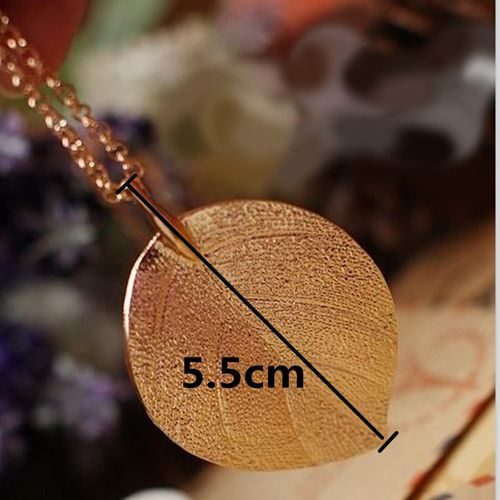 zhenshecai x73 Fashion Jewelry Gold Color Leaf Pendant Necklace For Women Exquisite Long Necklace Korean Style Wholesale Sweater Chain Gift