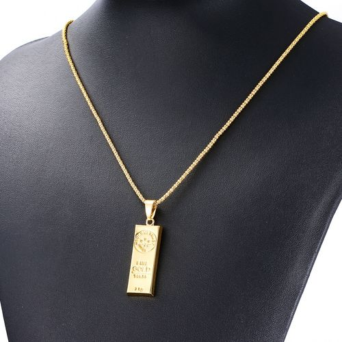 Romad New MGOLD WE TRUST Necklace for Men and Women Gold Color Pendant Hip Hop Necklace