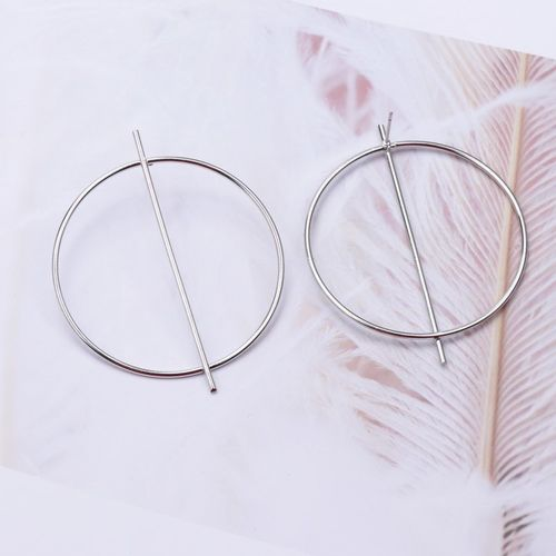 guangtuo New Fashion Exaggerated Big Circle Round Drop Earrings for Women Studs Gold Color Earring Club Party Jewelry Punk oorbellen