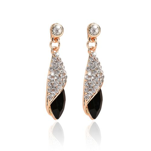1 pair Girls Fashion Earrings Women Crystal Water Drop Earrings Fashion Jewelry Wedding Pierced Dangle Earrings 4 colors