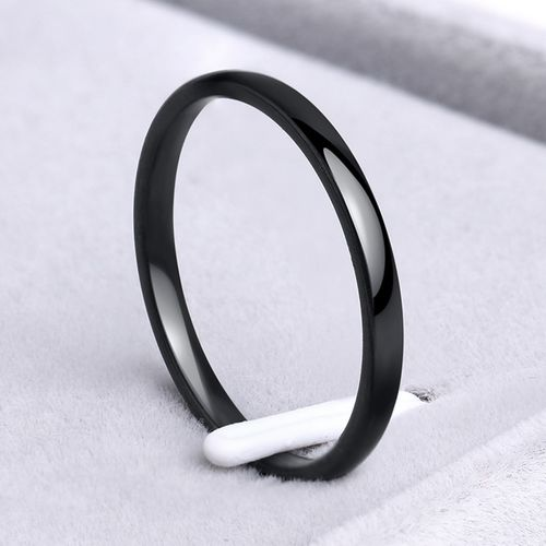 CACANA Stainless Steel Rings Rose Gold Anti-allergy Smooth Simple personalized custom Wedding Couples Rings Bijouterie